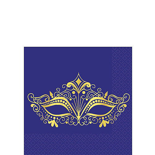 A Night in Disguise Masquerade Beverage Napkins 16ct Image #1