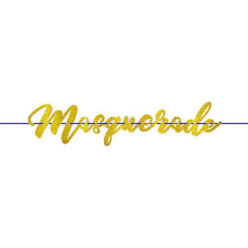 Glitter A Night in Disguise Masquerade Letter Banner Image #1
