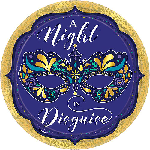 A Night in Disguise Masquerade Dinner Plates 8ct Image #1
