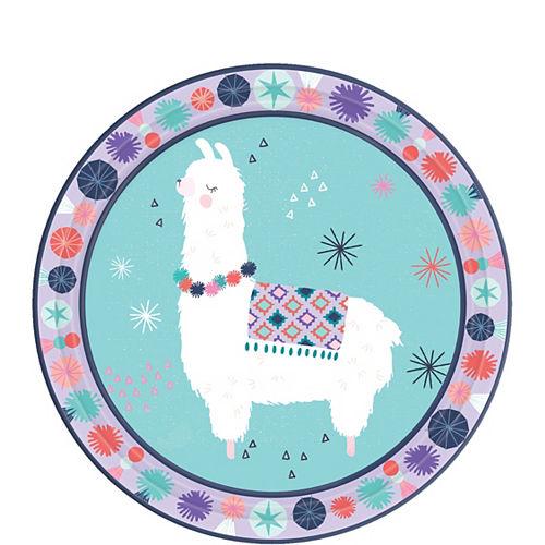 Llama Fun Dessert Plates 8ct Image #1