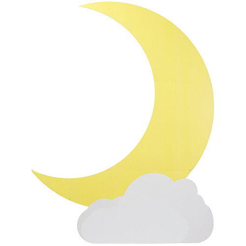 Moon & Cloud Cardboard Cutout Image #1