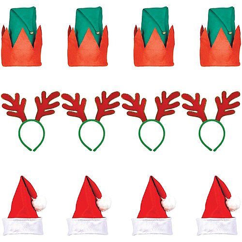 Christmas Hat & Headband Kit for 60 Guests Image #1