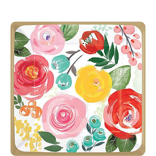 Bright Floral Dessert Plates 8ct Image #1