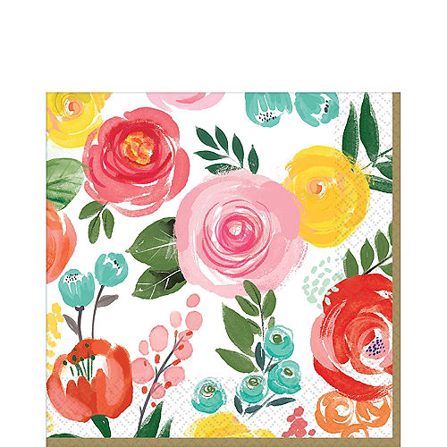 Bright Floral Lunch Napkins 16ct Image #1