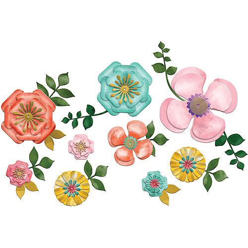 Bright Floral Cutouts 20ct Image #1