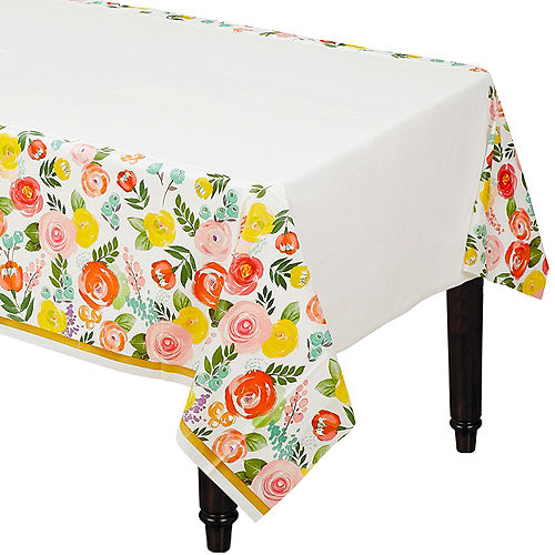 Bright Floral Table Cover Image #1