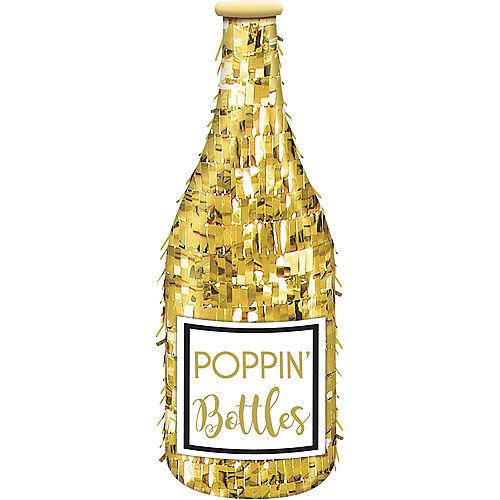 Mini Champagne Bottle Pinata Decoration Image #1