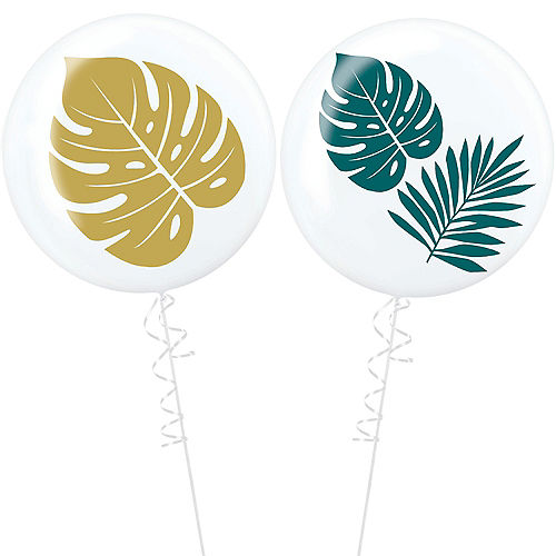 Key West Palm Leaf Balloons 2ct Image #1