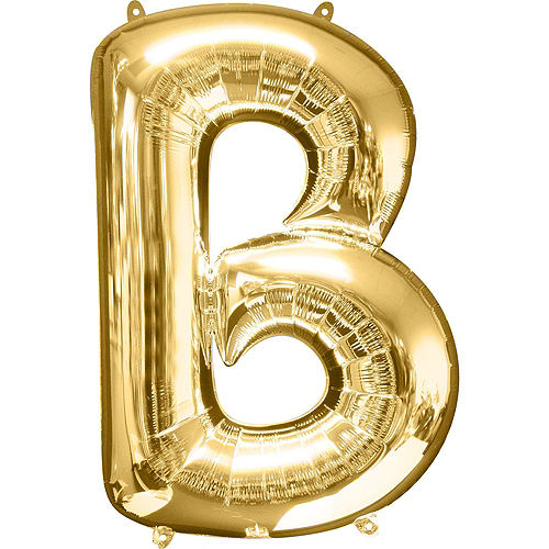 34in Gold Oh Baby Letter Balloon Kit Image #4