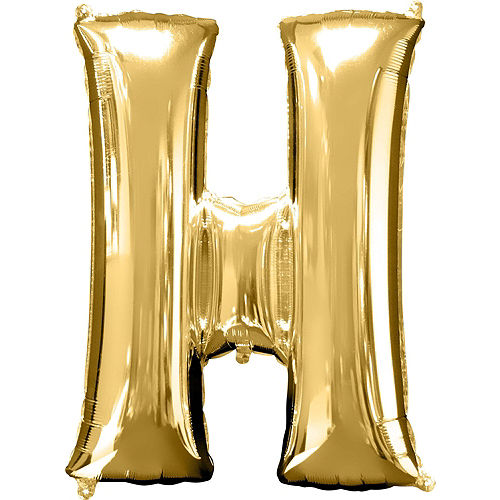34in Gold Oh Baby Letter Balloon Kit Image #5