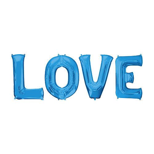 Giant Blue Love Letter Balloon Kit Image #1