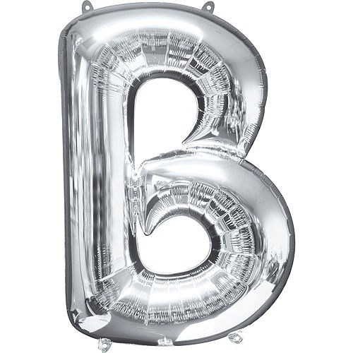 Giant Silver Bubbly Letter Balloon Kit Image #3