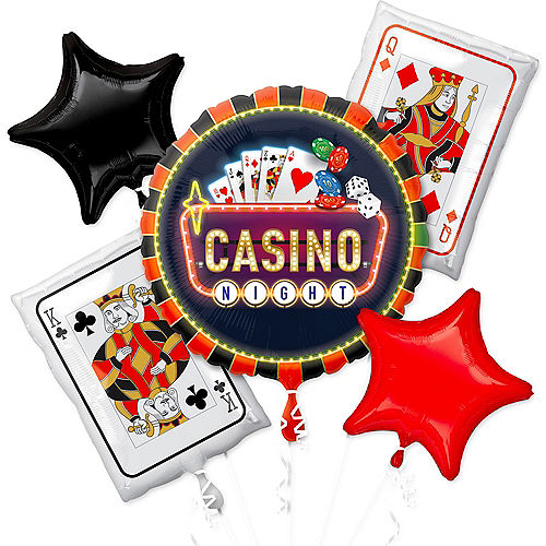 Roll the Dice Casino Balloon Bouquet 5pc Image #1