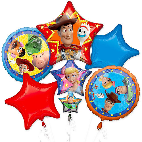 Toy Story 4 Balloon Bouquet 5pc Image #1
