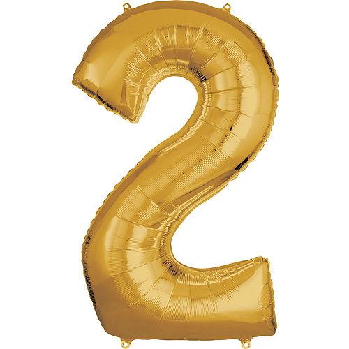 Giant Gold 2022 Number Balloon Kit Image #4