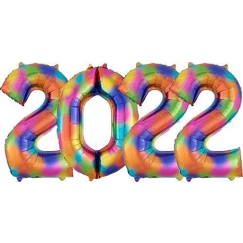 Giant Rainbow 2022 Number Balloon Kit Image #1