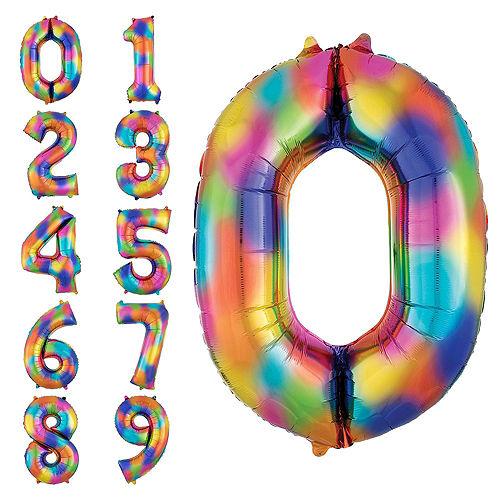 Giant Rainbow 2022 Number Balloon Kit Image #3