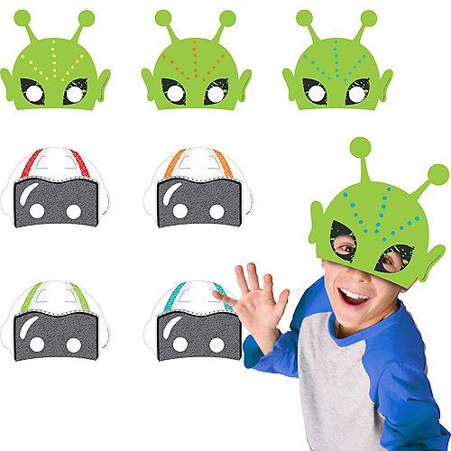 Blast Off Birthday Masks 8ct Image #1