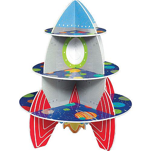 Blast Off Rocket Cupcake Stand Image #1