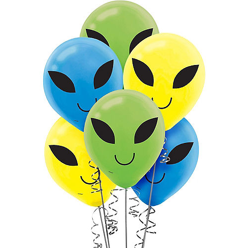 Blast Off Alien Balloons 15ct Image #1