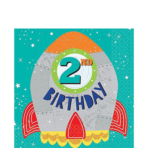 Blast Off 2nd Birthday Lunch Napkins 16ct Image #1