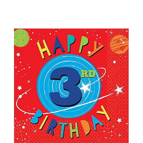 Blast Off 3rd Birthday Lunch Napkins 16ct Image #1