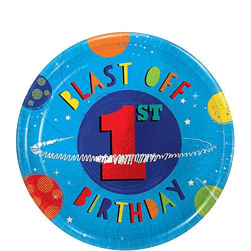 Blast Off 1st Birthday Dessert Plates 8ct Image #1