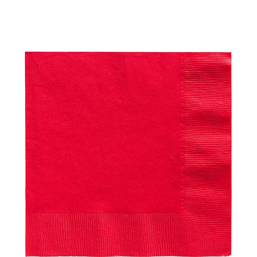 Red & Festive Green Plastic Tableware Kit for 50 Guests Image #4