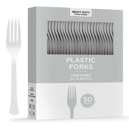 Black & Silver Plastic Tableware Kit for 50 Guests Image #8