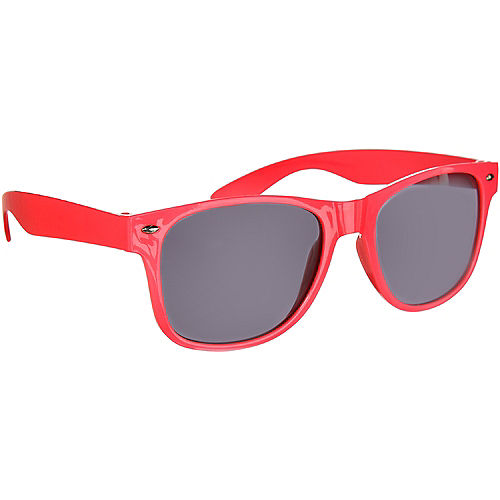 Classic Red Frame Sunglasses Image #2