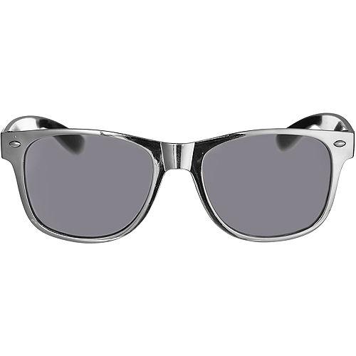Classic Metallic Silver Frame Sunglasses Image #1