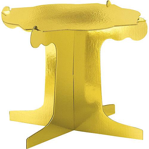 Metallic Gold Sweet Treats Display Stands 3ct Image #1