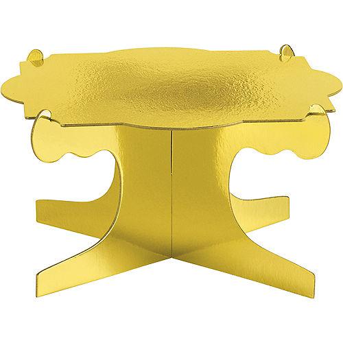 Metallic Gold Sweet Treats Display Stands 3ct Image #2