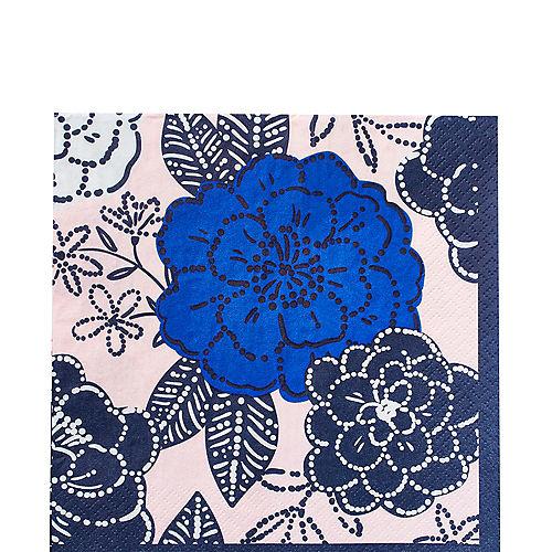 Royal Blue Floral Lunch Napkins 16ct Image #1