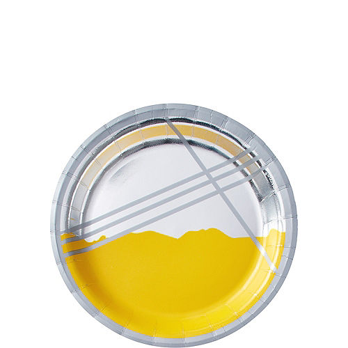 Metallic Yellow Facet Dessert Plates 8ct Image #1