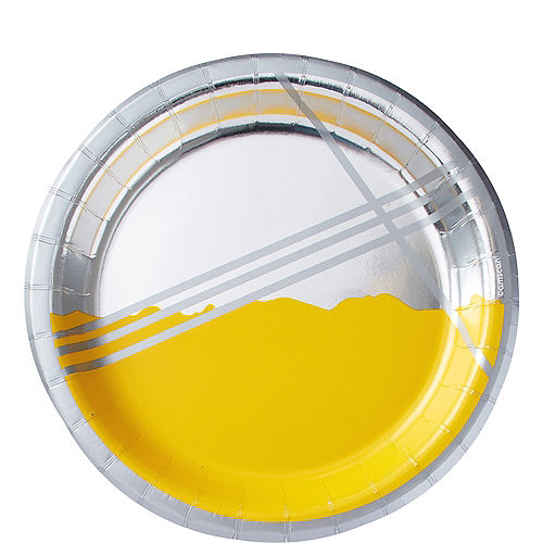 Metallic Yellow Facet Lunch Plates 8ct Image #1