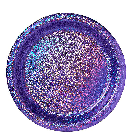 Prismatic Purple Lunch Plates, 8.5in, 8ct Image #1