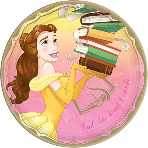 Princess Belle Lunch Plates 8ct Image #1