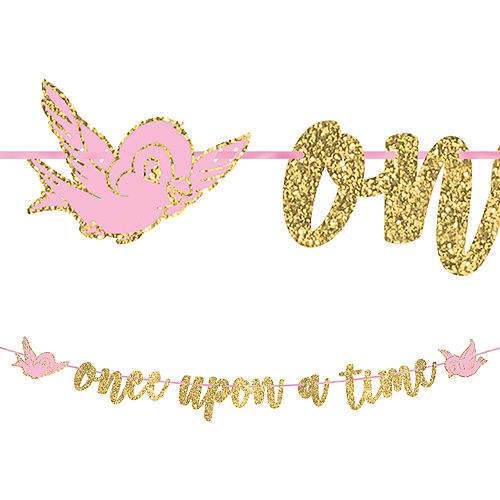 Glitter Disney Once Upon a Time Letter Banner Image #1