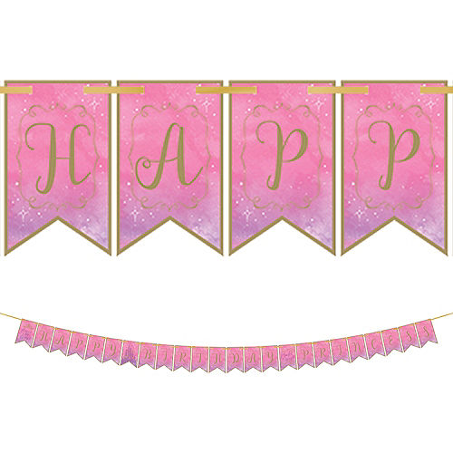 Disney Once Upon a Time Birthday Pennant Banner Image #1