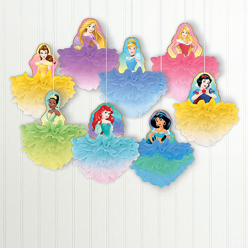 Disney Once Upon a Time Tissue Pom Poms 8ct Image #1