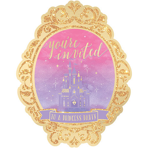 Glitter Disney Once Upon a Time Invitations 8ct Image #1