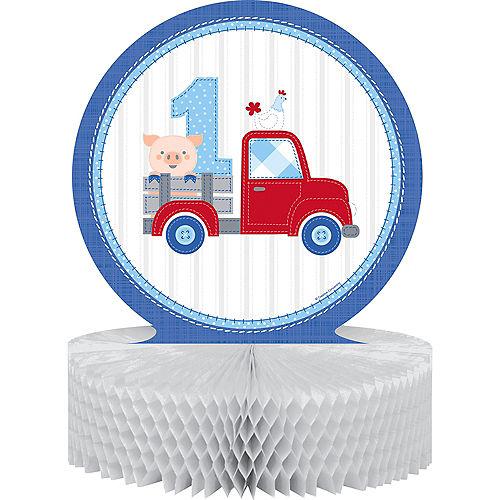 Blue Farmhouse 1st Birthday Honeycomb Centerpiece Image #1