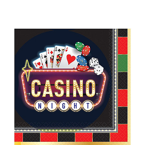 Roll the Dice Casino Lunch Napkins 16ct Image #1