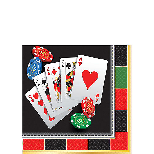 Roll the Dice Casino Beverage Napkins 16ct Image #1