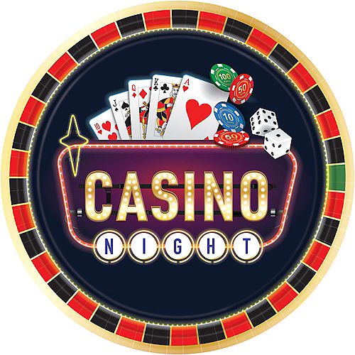 Roll the Dice Casino Dinner Plates 8ct Image #1
