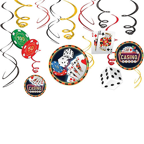 Roll the Dice Casino Swirl Decorations 12ct Image #1