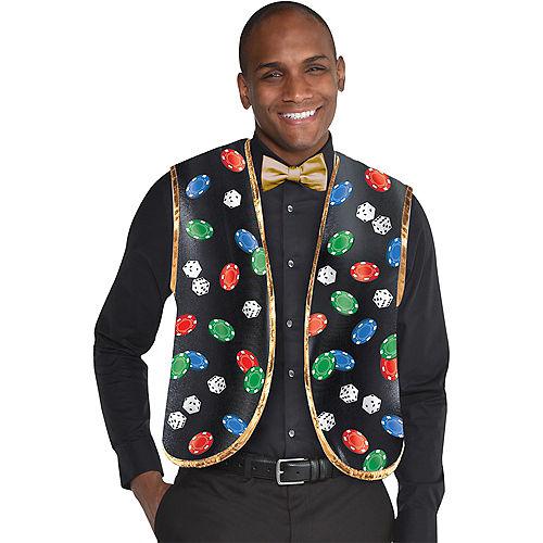 Roll the Dice Casino Dealer Vest & Bow Tie Set 2pc Image #1