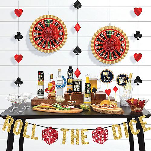 Roll the Dice Casino Bar Decorating Kit 29pc Image #1