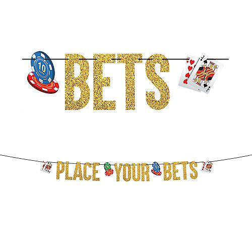 Glitter Roll the Dice Casino Letter Banner Image #1